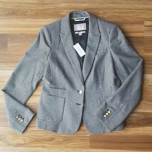 (NWT) Banana Republic Houndstooth Cotton Blazer
